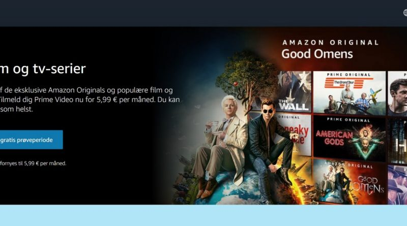 Slik ser du Amazon Prime Video